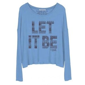 Let it Be Fleece Pullover PERFECT CONDITION